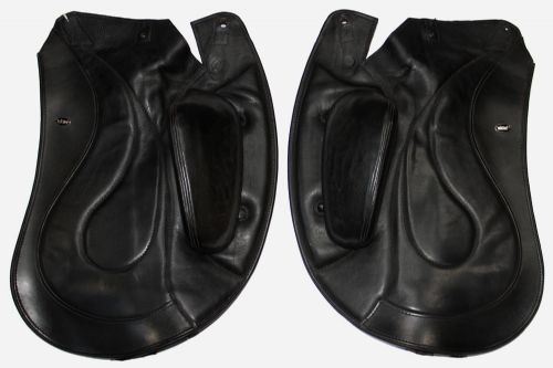 Dressage Equitana Angled Back  Flaps In Black  - Flap 34